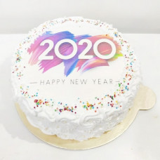 Новогодний торт с логотипом