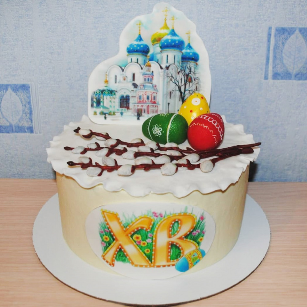 Торт храм на Пасху