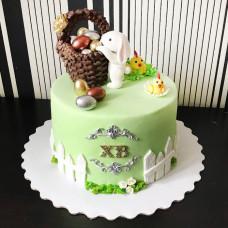 Торт пасхальная корзина