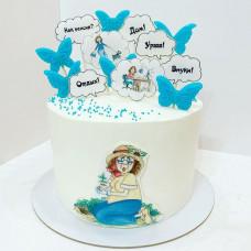 Торт с выходом на пенсию женщине