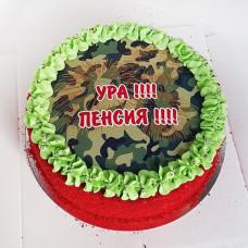 Торт военному на пенсию