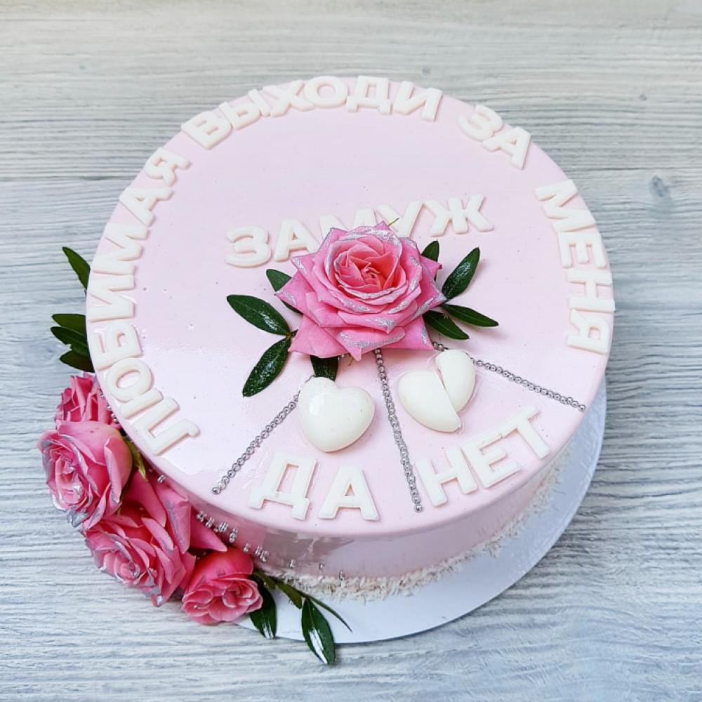 Торт свадебный «Предложение руки и сердца»