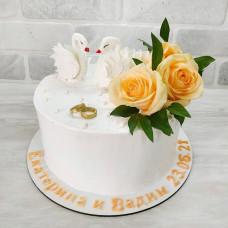 Торт на годовщину венчания