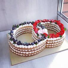 Торт обручальные кольца
