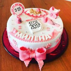 Торт на выписку из роддома для девочки