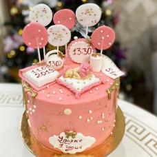 Торт на выписку девочки