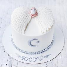 Торт на выписку из роддома с ангелочком
