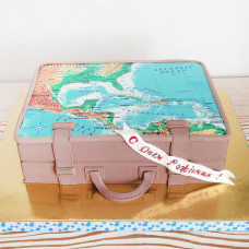 Торт чемодан путешественника