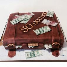 Торт чемодан с деньгами на юбилей