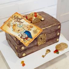Торт пиратский сундук