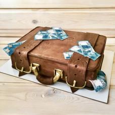 Торт в виде чемодана
