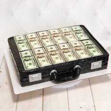 Торт чемодан с долларами