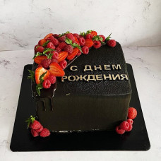 Квадратный черный торт