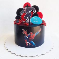 Черный детский торт