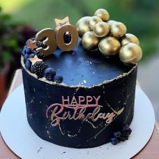 Черный торт на юбилей 30 лет