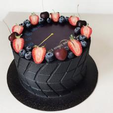 Торт черного цвета