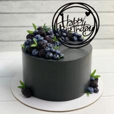 Торт в черном стиле