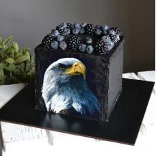 Черный торт с орлом