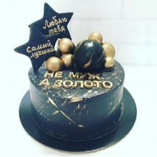 Черно-золотой торт