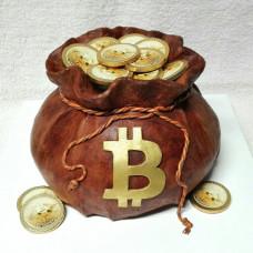 Торт с биткойнами