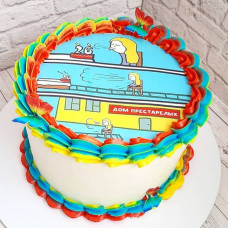 Торт на тему Дом престарелых