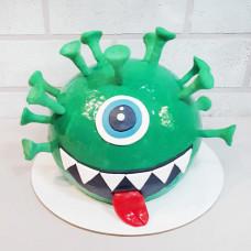 Торт в форме коронавируса