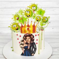 Торт коронавирус на день рождения