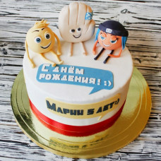 Торт с 3D фигурками Эмоджи
