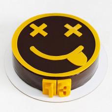 Торт смайлик на 13 лет
