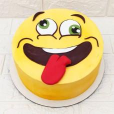 Торт смайлик на день рождения