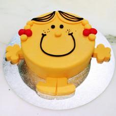 Торт в форме смайлика