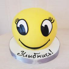 Торт 3D смайлик