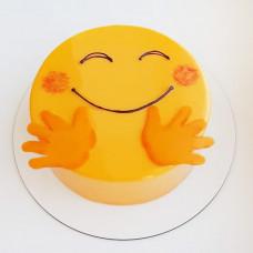 Торт виде смайлика