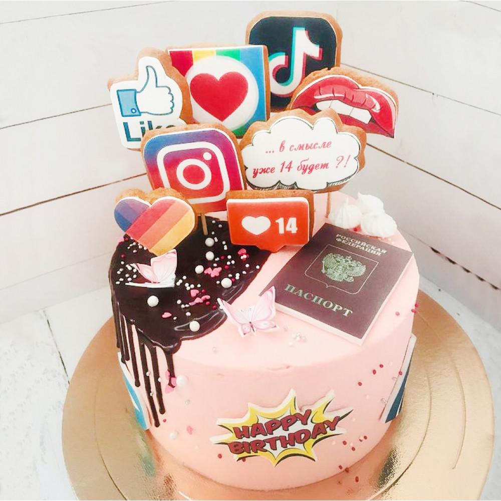 Торт в стиле соцсетей