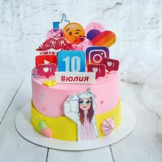 Торт соцсети для девочки