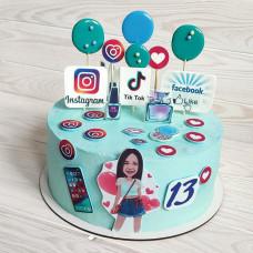 Торт на День блогера