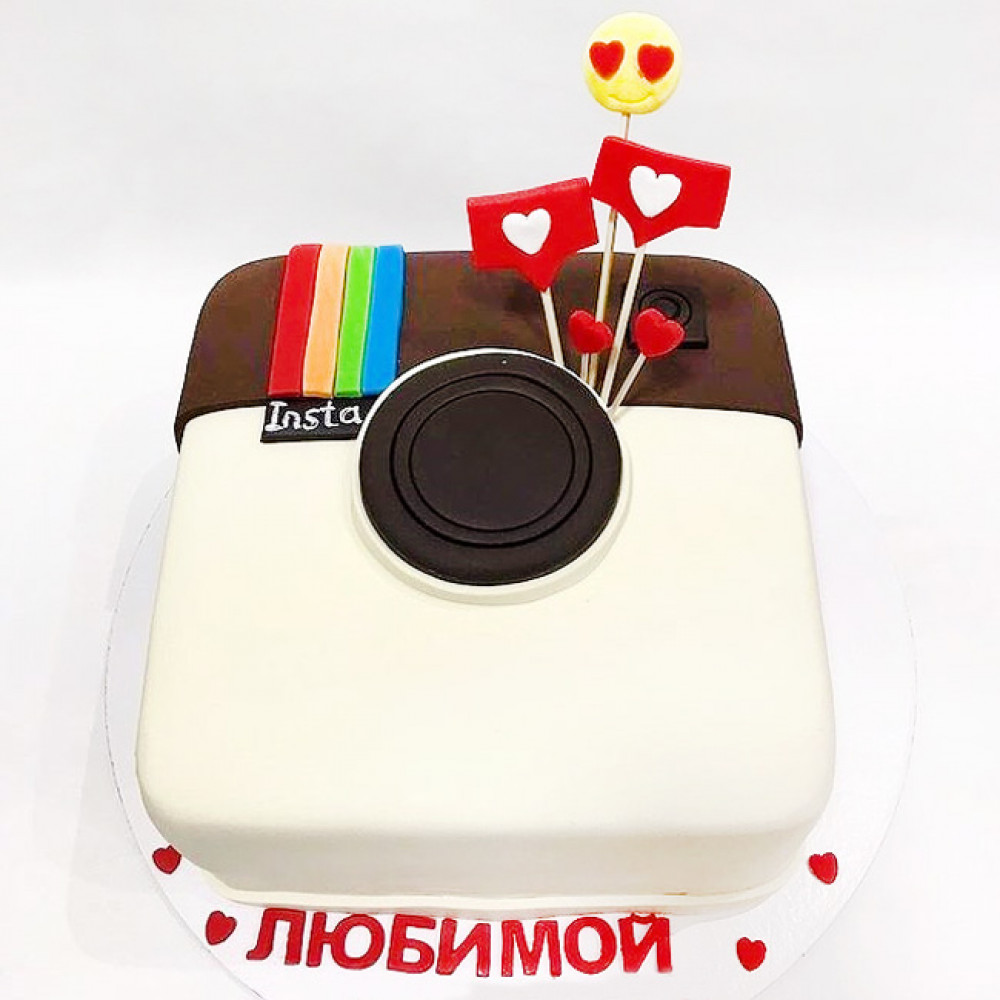 Торт значок Инстаграм