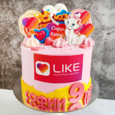 Торт Инстаграм для девочки