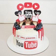 Торт Ютуб на день рождения