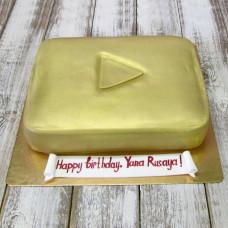 Торт золотая кнопка Ютуба