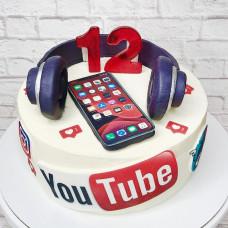 Торт в стиле Ютуб