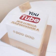Торт в виде кнопки Ютуб