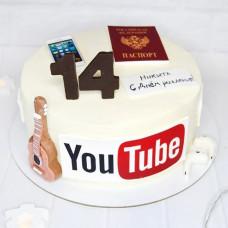 Торт для поклонников Ютуб
