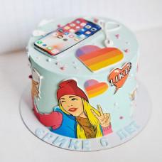 Торт Лайк на день рождения