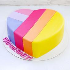 Торт сердцем Лайк