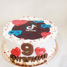 Торт с рисунком Тик Ток