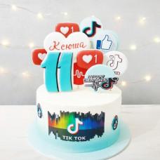 Торт для девочки Тик Ток и Лайки