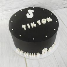Торт с надписью Тик Ток