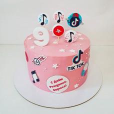 Торт Тик Ток для девочек 9 лет