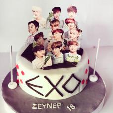 Торт в стиле группы EXO